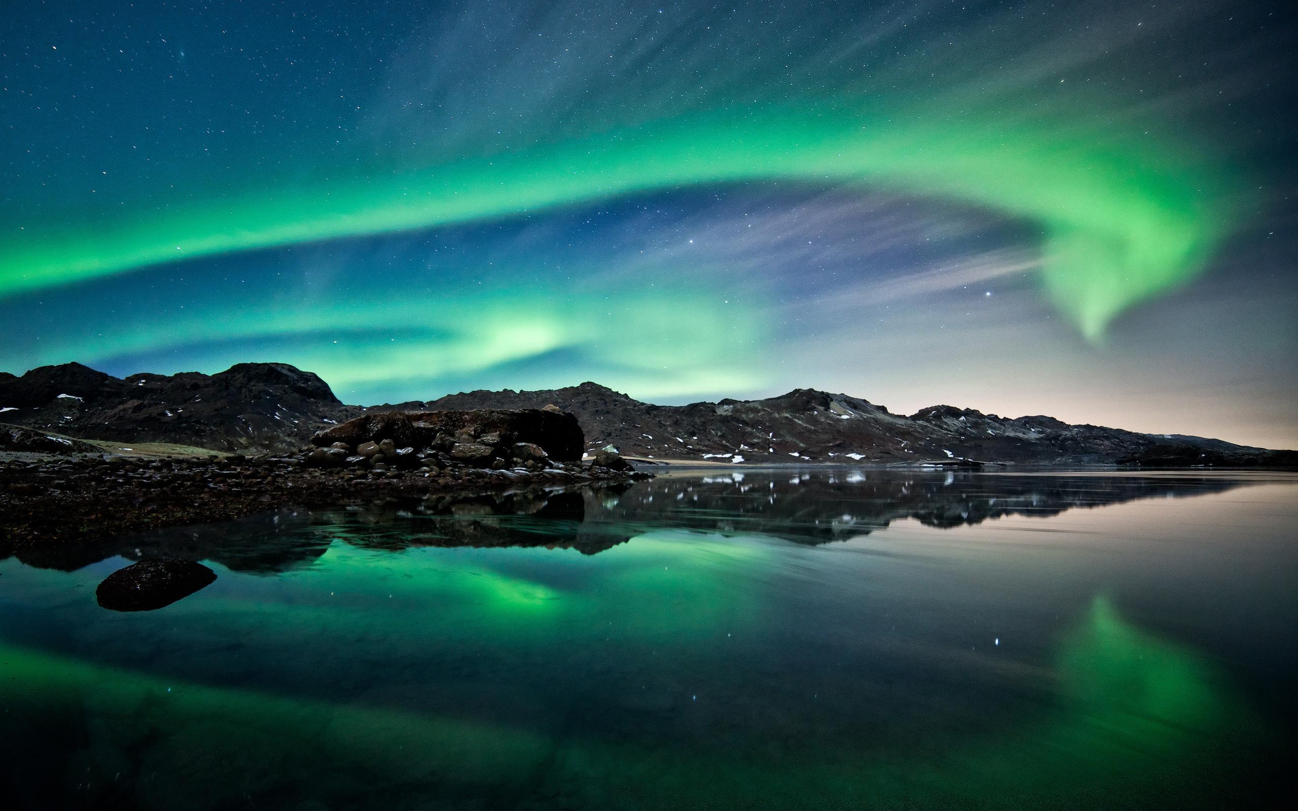 Aurora boreale sfondi per pc 2560x1600 id 387334 for Sfondi desktop aurora boreale