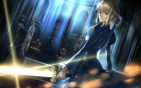 Anime Fate/Zero Fate Series Saber Kiritsugu Emiya Irisviel Von Einzbern HD Wallpaper   Background Image