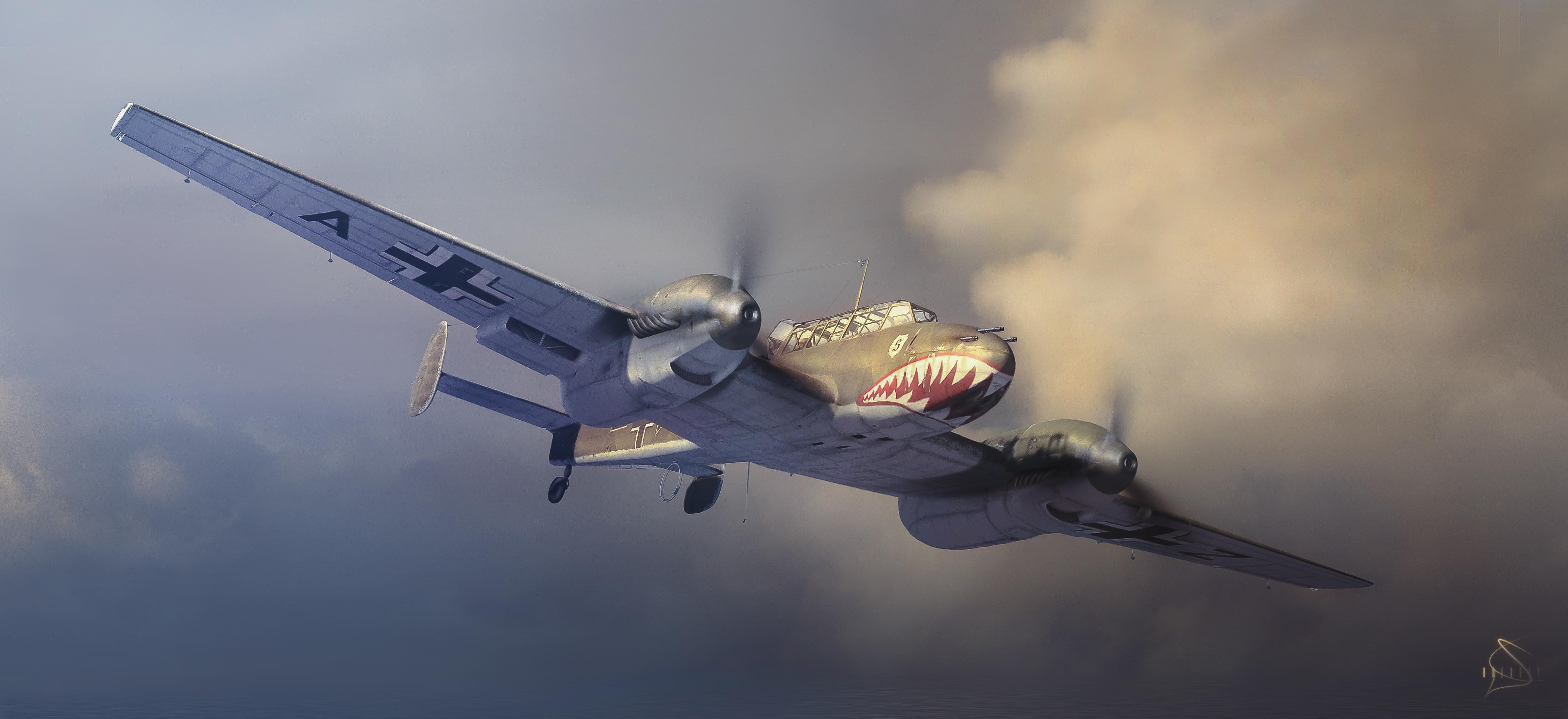 рисунок Тяжелый истребитель Bf-110