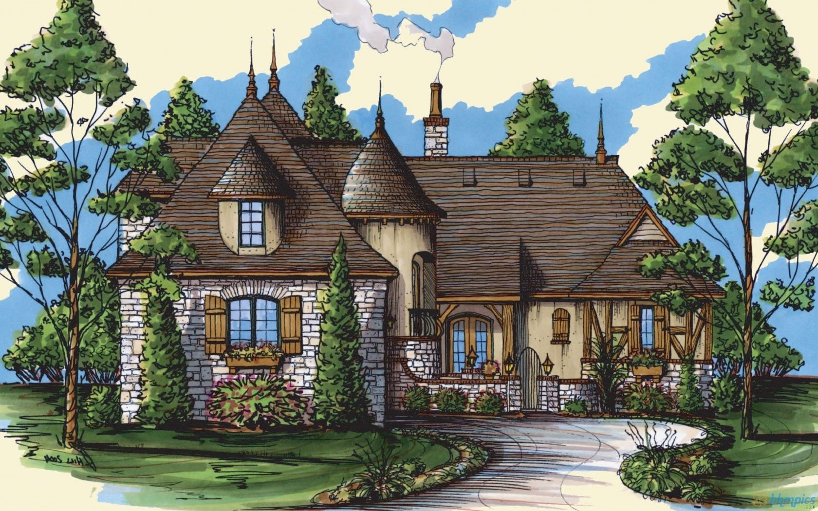 Artistic - House  Wallpaper