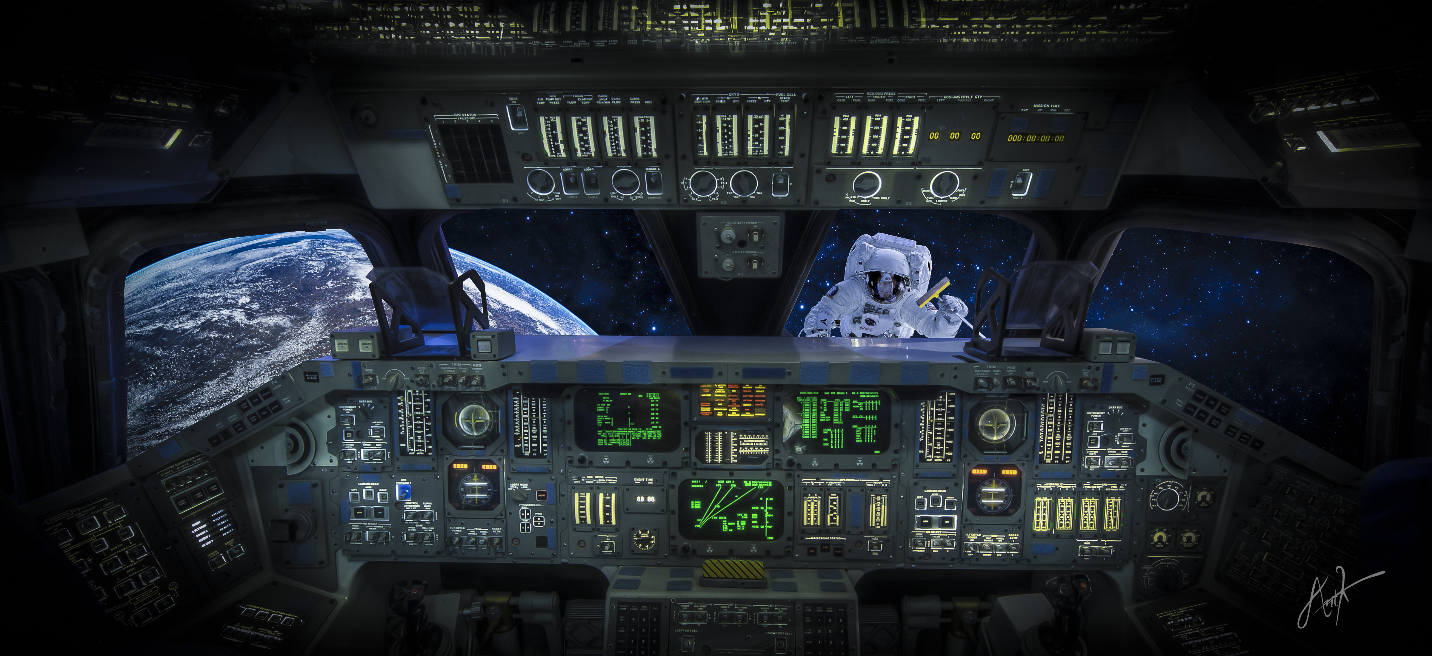 space shuttle launch cockpit view hd - photo #11