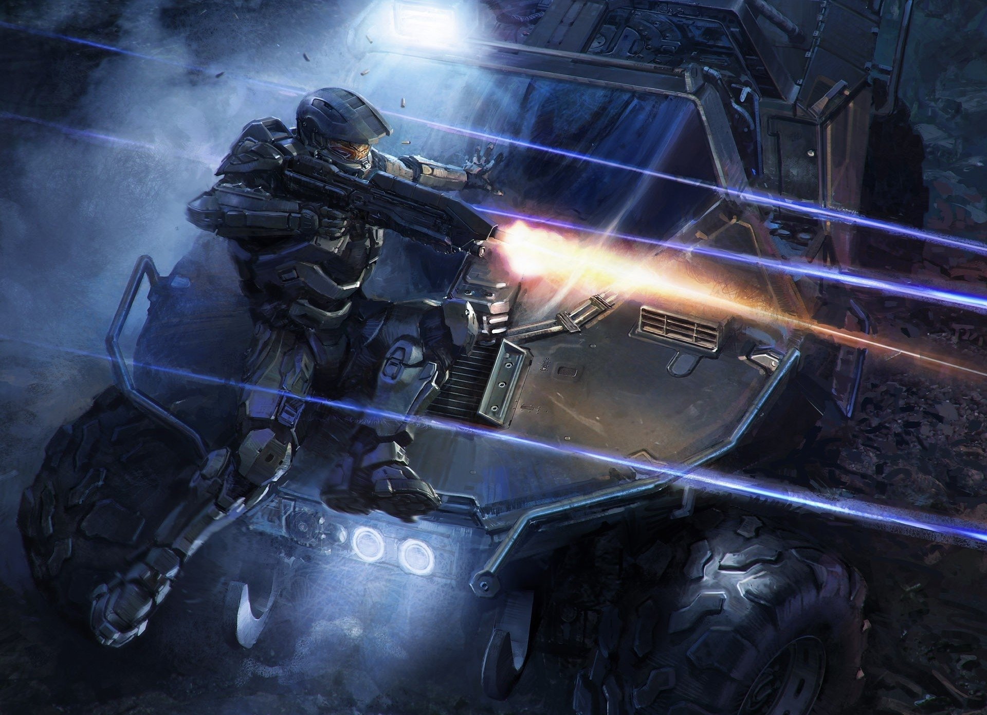 Video Game - Halo  Master Chief Vehicle Weapon Gun Warrior Sci Fi Video Game Wallpaper