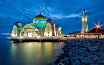 Religious - Malacca Straits Mosque Wallpapers and Backgrounds ID : 394488