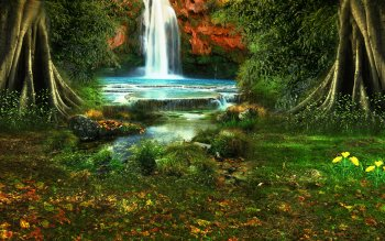 Erde - Wasserfall Wallpapers and Backgrounds ID : 397984