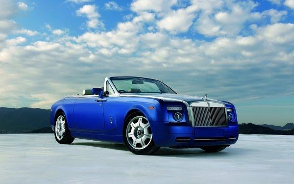 Véhicules Rolls-Royce Phantom  Rolls Royce Rolls-Royce Bleu Voiture Fond d'écran HD   Image