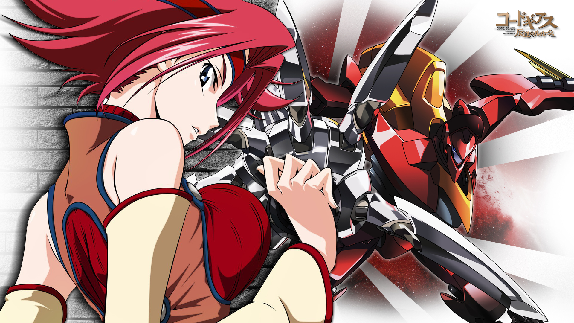 Kallen Ace Of The Black Knights Hd Wallpaper Background Image