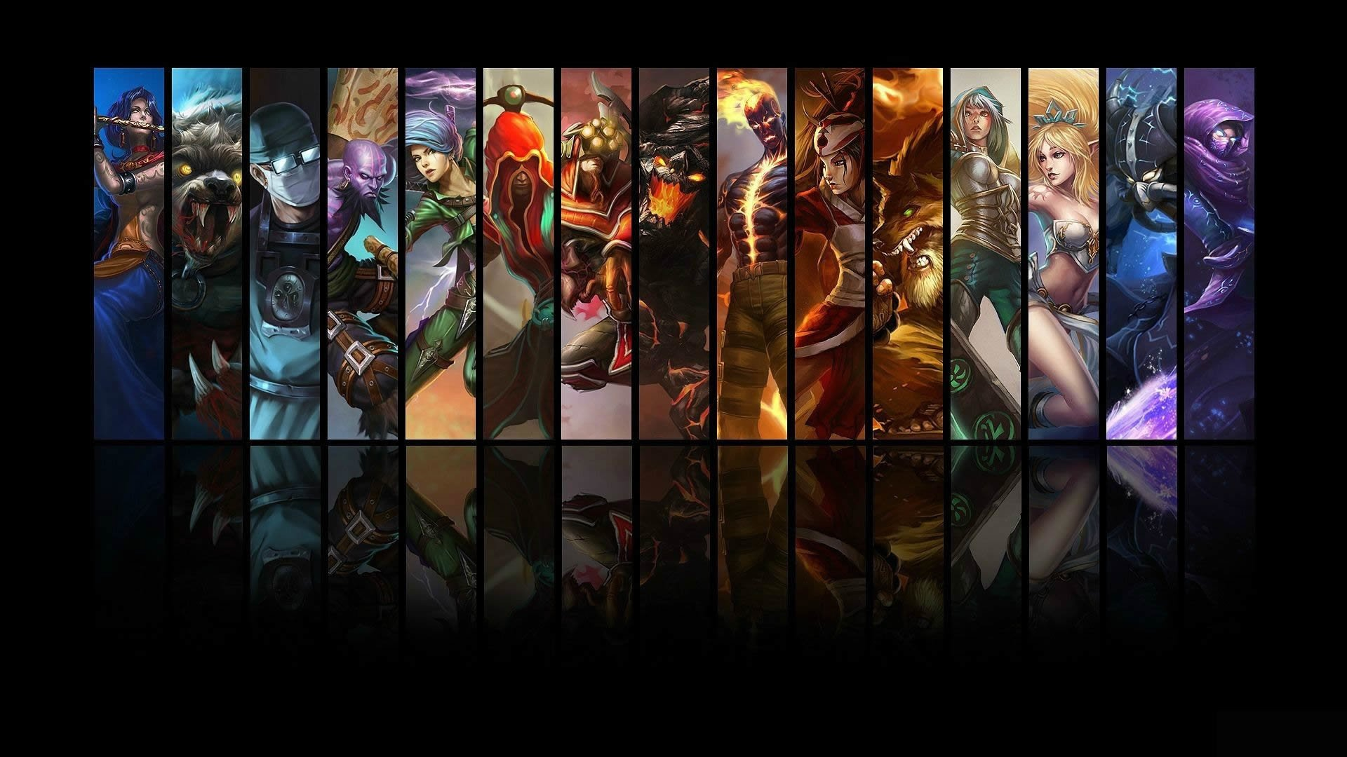 Video Game - League Of Legends  Shen (League Of Legends) Soraka (League Of Legends) Malzahar (League Of Legends) Brand (League of Legends) Janna (League Of Legends) Katarina (League Of Legends) Master Yi (League Of Legends) Ryze (League Of Legends) Kassadin (League Of Legends) Malphite (League of Legends) Warwick (League Of Legends) Akali (League Of Legends) Udyr (League Of Legends) Lee Sin (League Of Legends) Riven (League Of Legends) Wallpaper