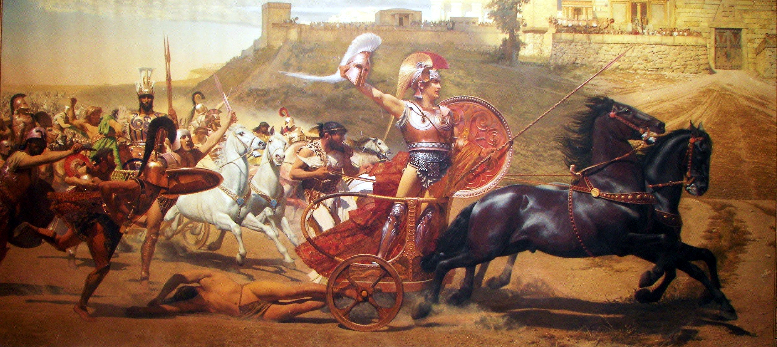 The Triumph Of Achilles Hd Wallpaper Background Image 2509x1122