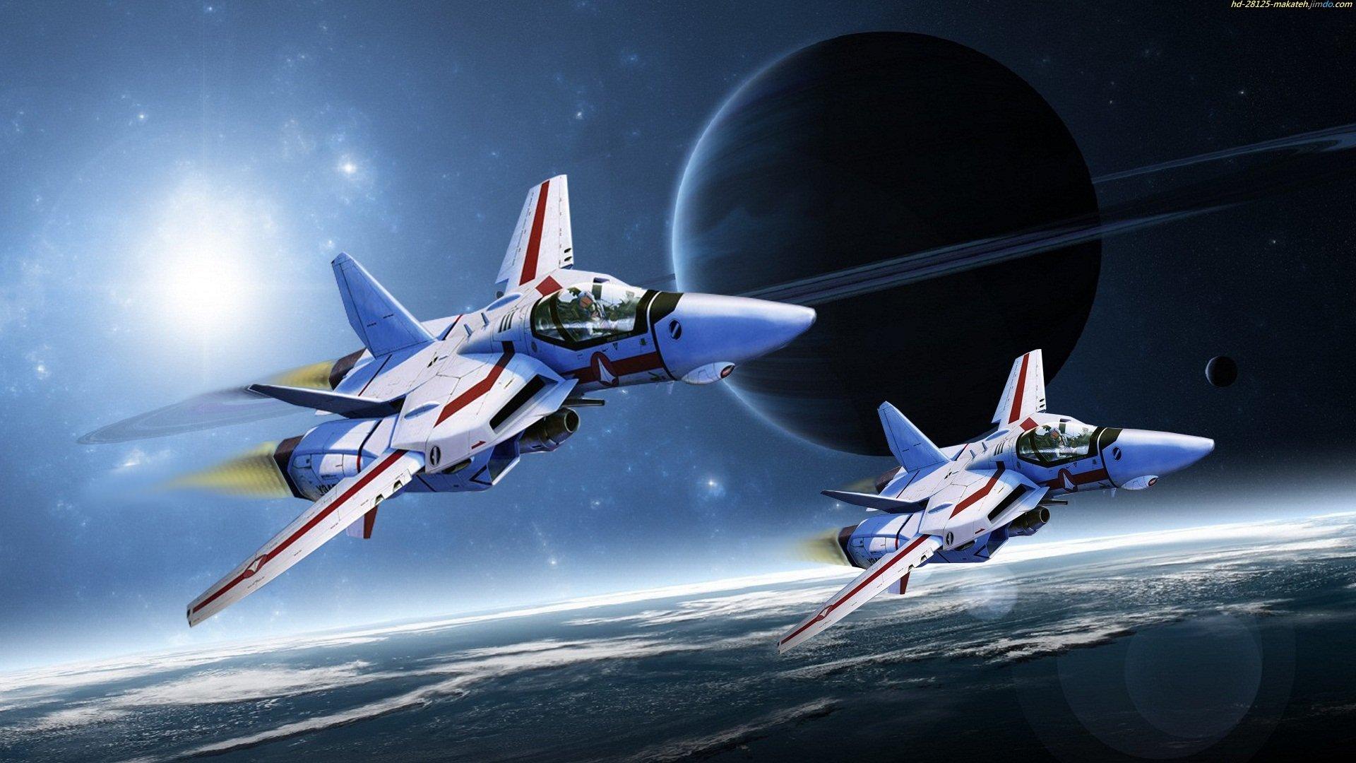 宇宙飛行する画像