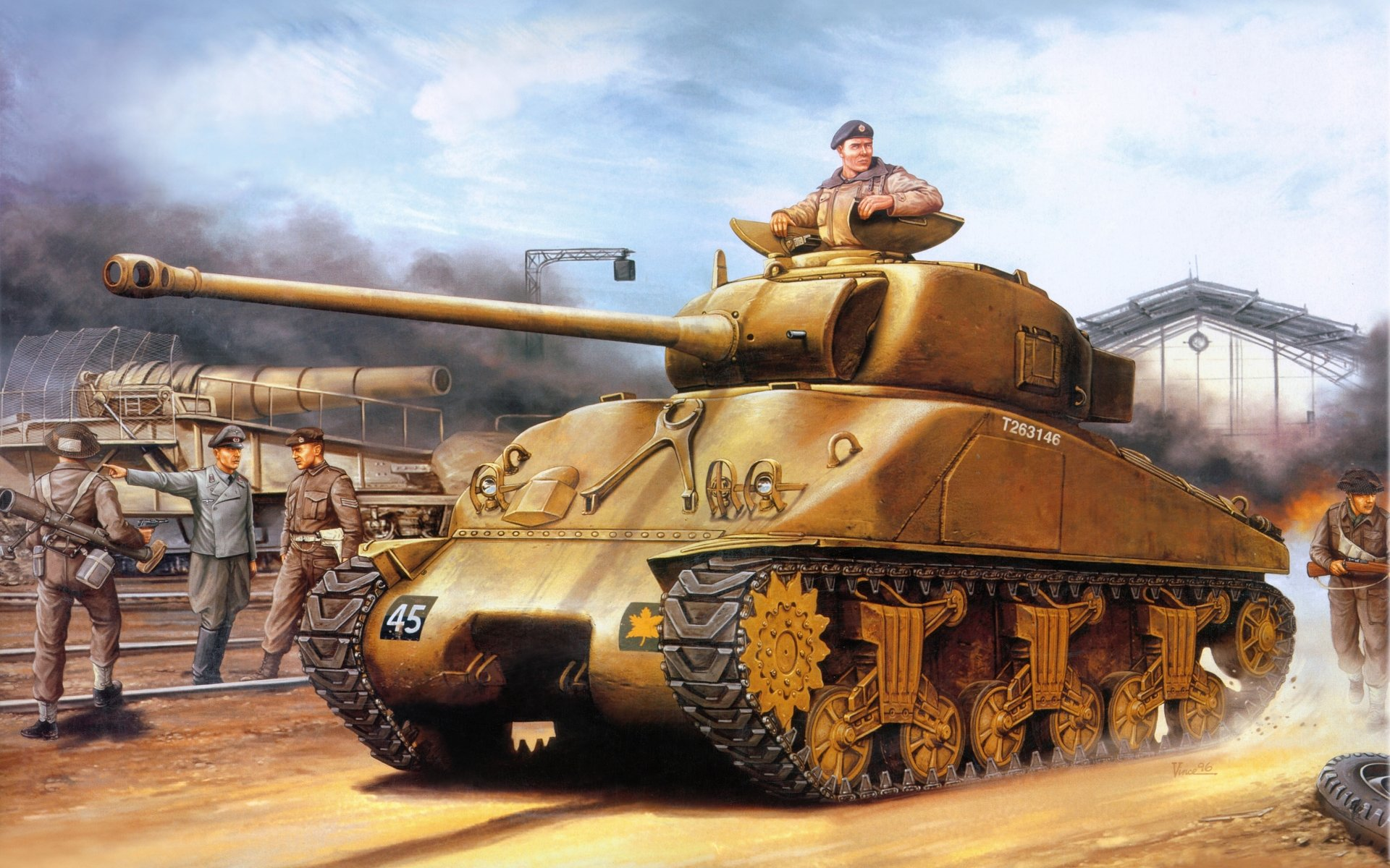 Custom Silk Photo Wallpaper Hd Military Tank Wall: Sherman M4A2 4k Ultra HD Wallpaper
