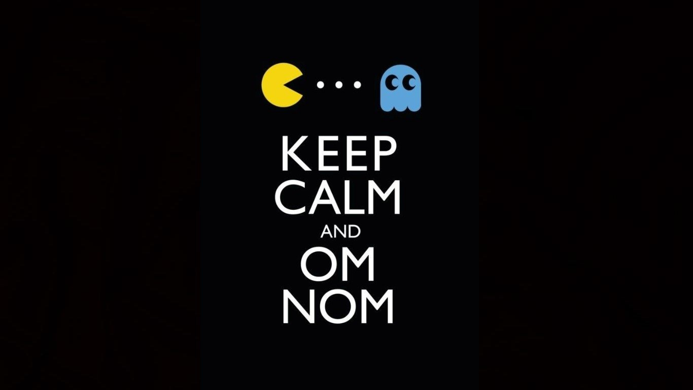 Keep Calm And Om Nom Wallpaper And Background Image
