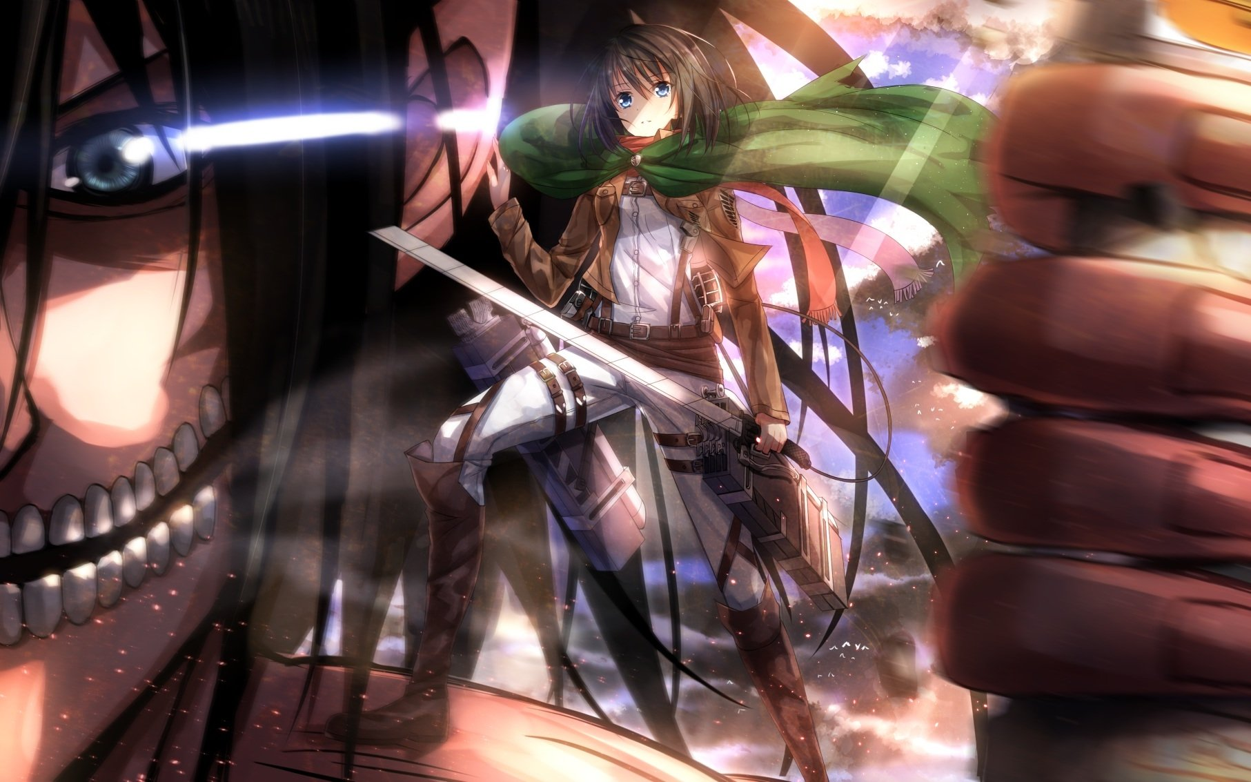 Anime - Attack On Titan  Anime Mikasa Ackerman Wallpaper