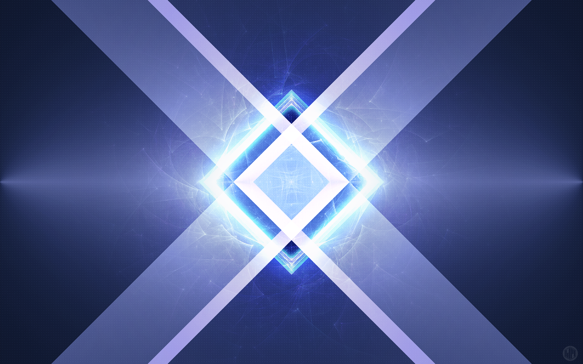 Abstract - 3D  Blue Triangle Mirror Geometry Wallpaper