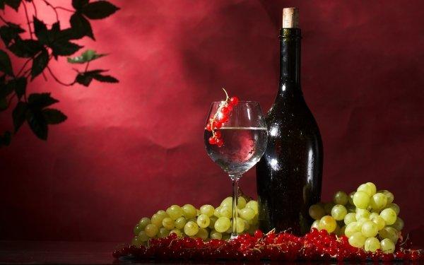 Food Wine Bottle Grapes Fruit HD Wallpaper | Background Image