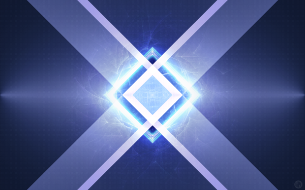 Abstract 3D Blue Triangle Mirror Geometry HD Wallpaper | Background Image