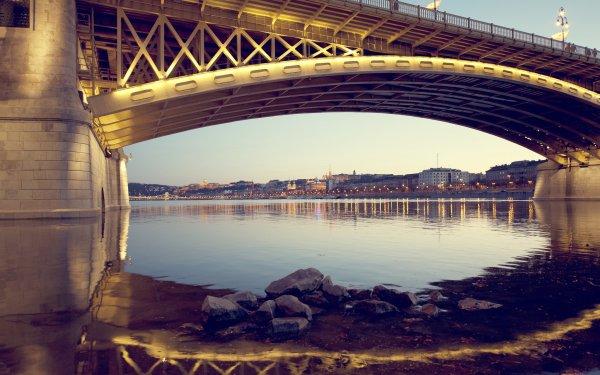 Man Made Margaret Bridge Bridges Budapest Hungary HD Wallpaper | Background Image
