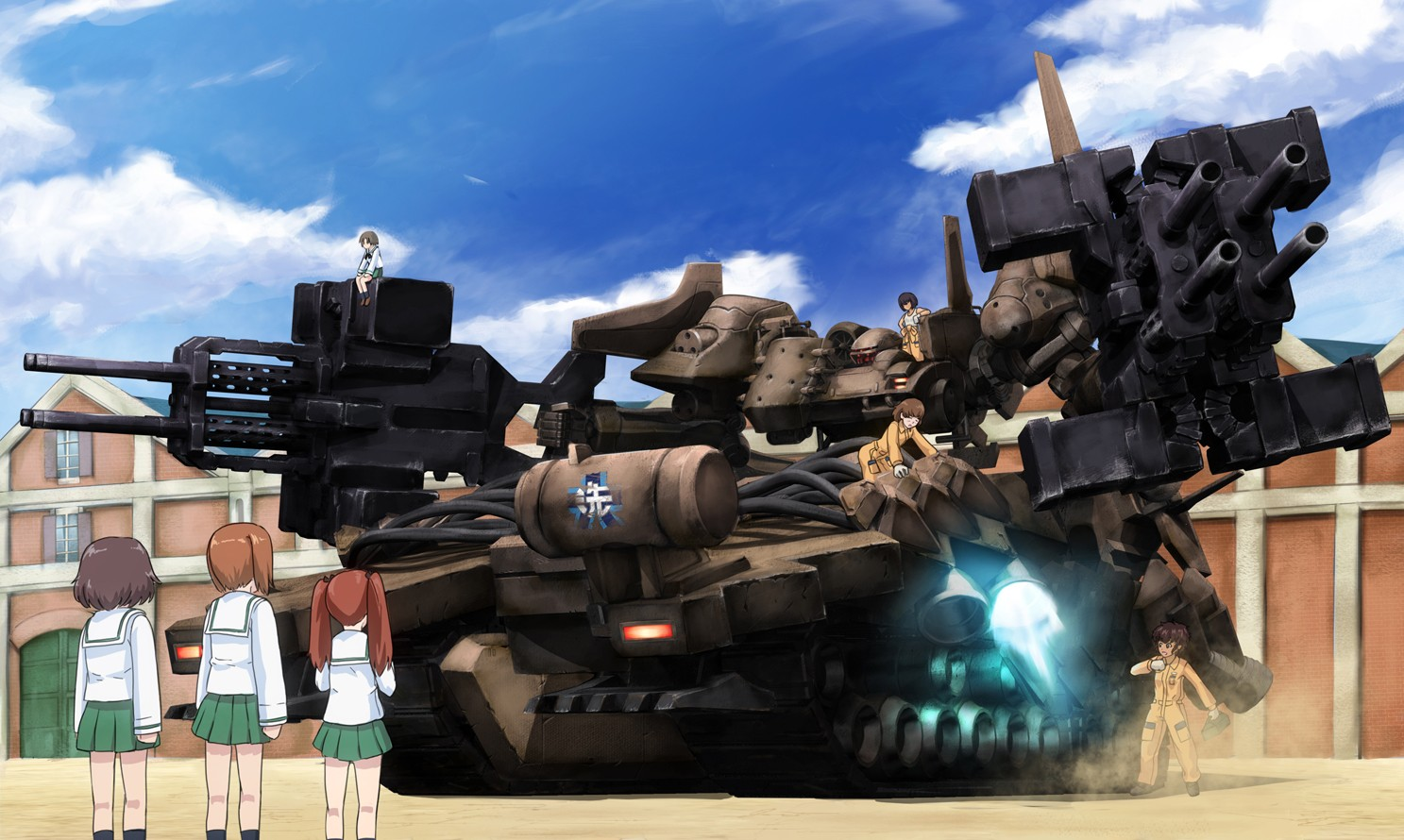 girls und panzer  u0026 armored core v wallpaper and background image