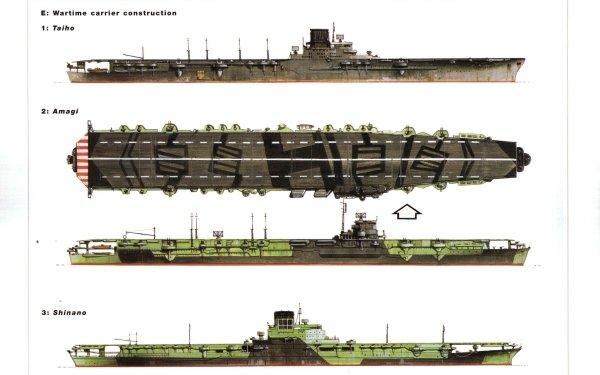 Military Japanese Navy Warships Aircraft Carrier Japanese aircraft carrier Amagi Imperial Japanese Navy Japanese aircraft carrier Shinano Japanese aircraft carrier Taiho HD Wallpaper | Background Image