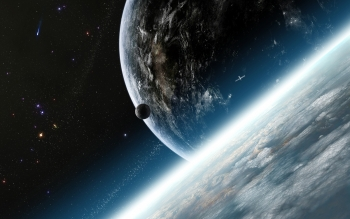 Sci Fi - Planet Rise Wallpapers and Backgrounds