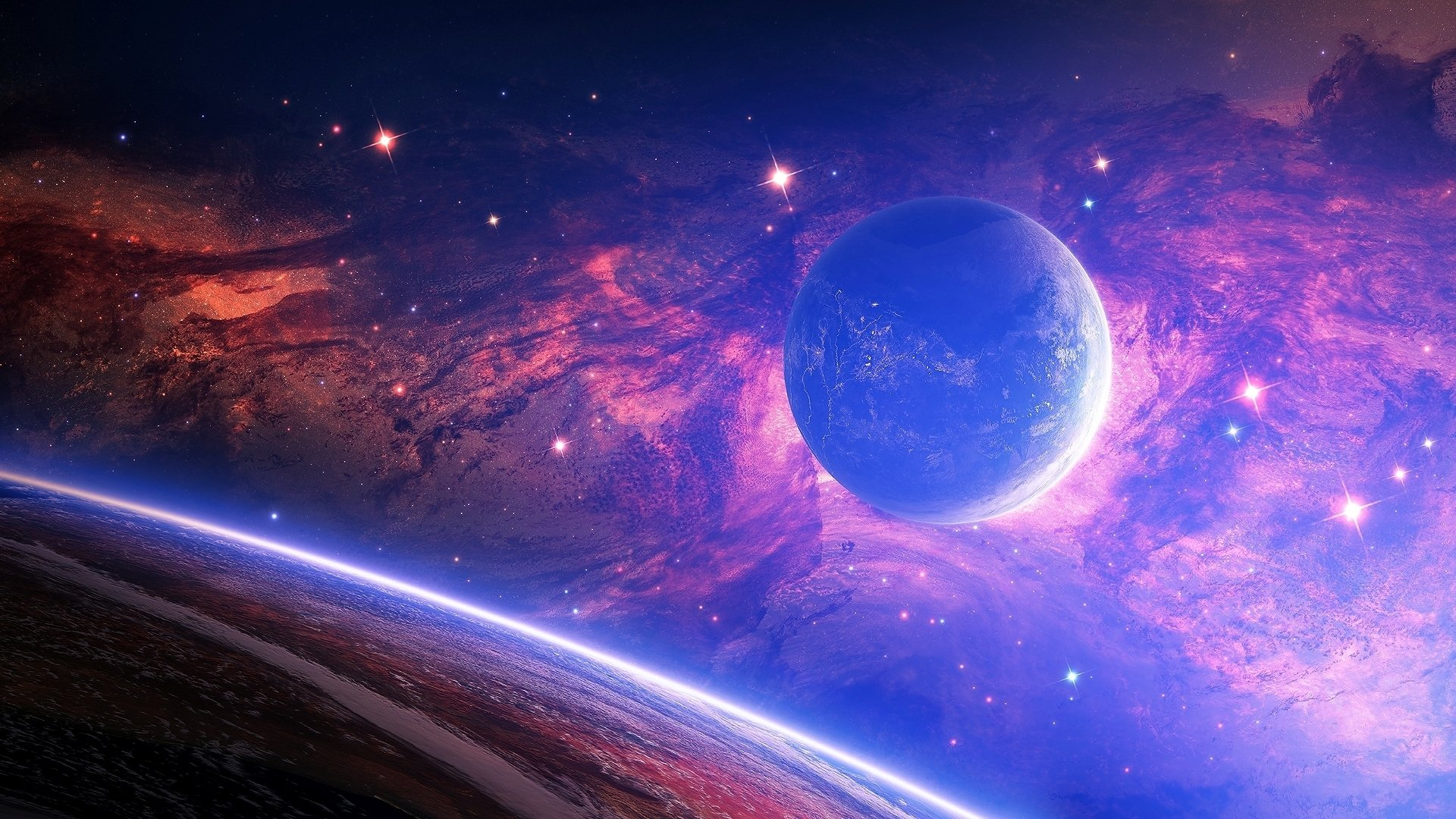 Sci Fi - Planets  Space Galaxy Wallpaper