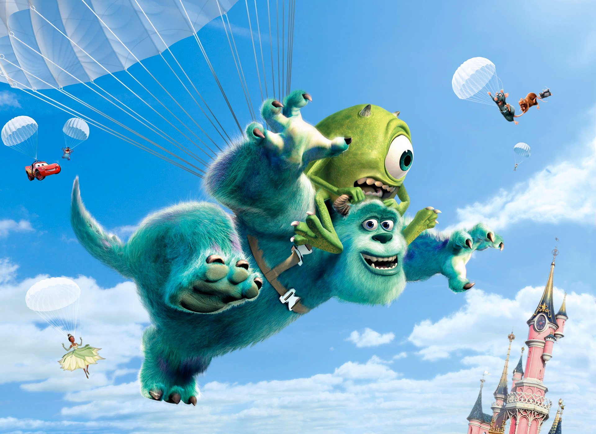 Wallpaper iphone monster university - Movie Monsters University Mike Wazowski James P Sullivan Wallpaper