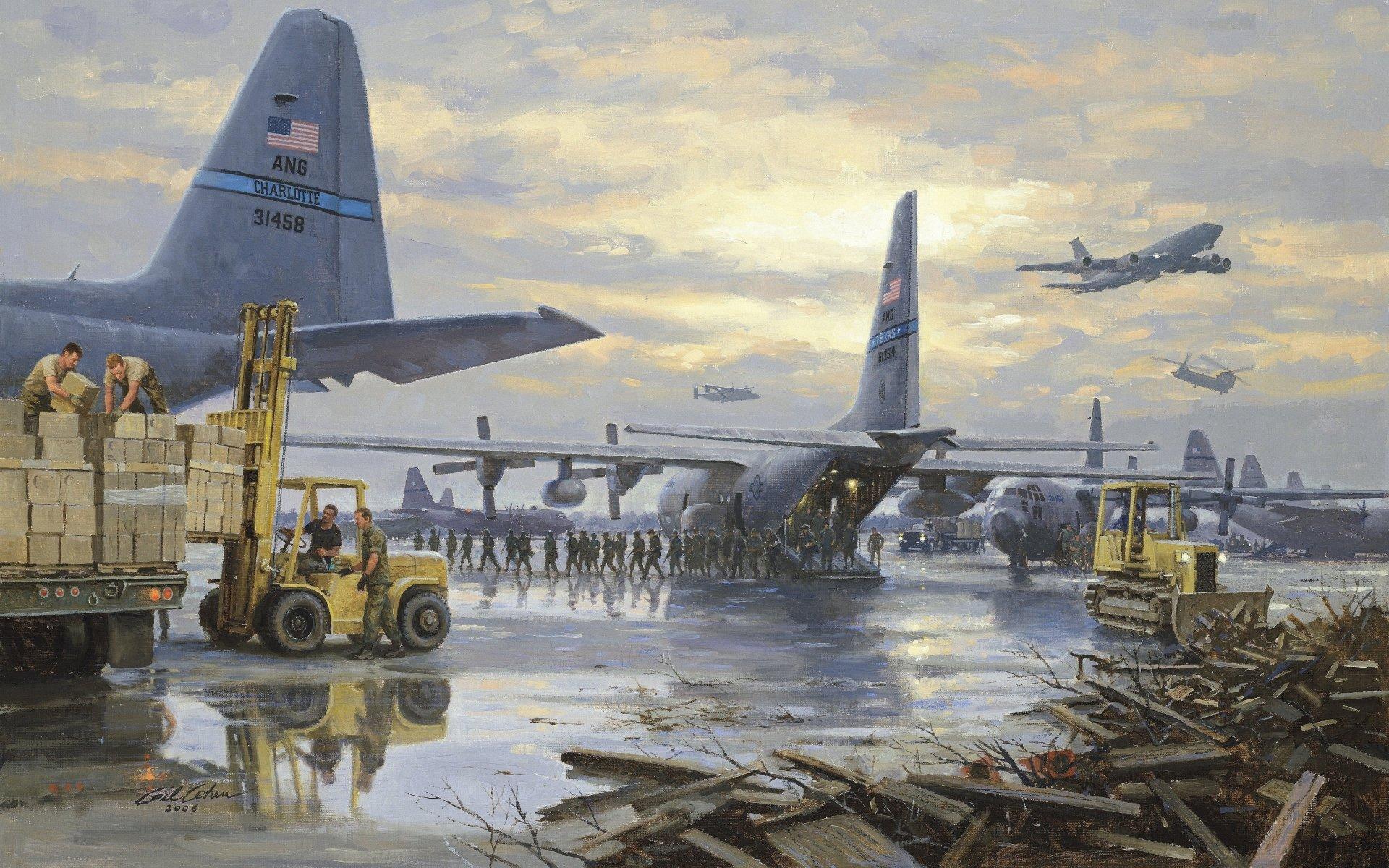 Обои C-130k, самолеты, hercules, военно-транспортные. Авиация foto 14