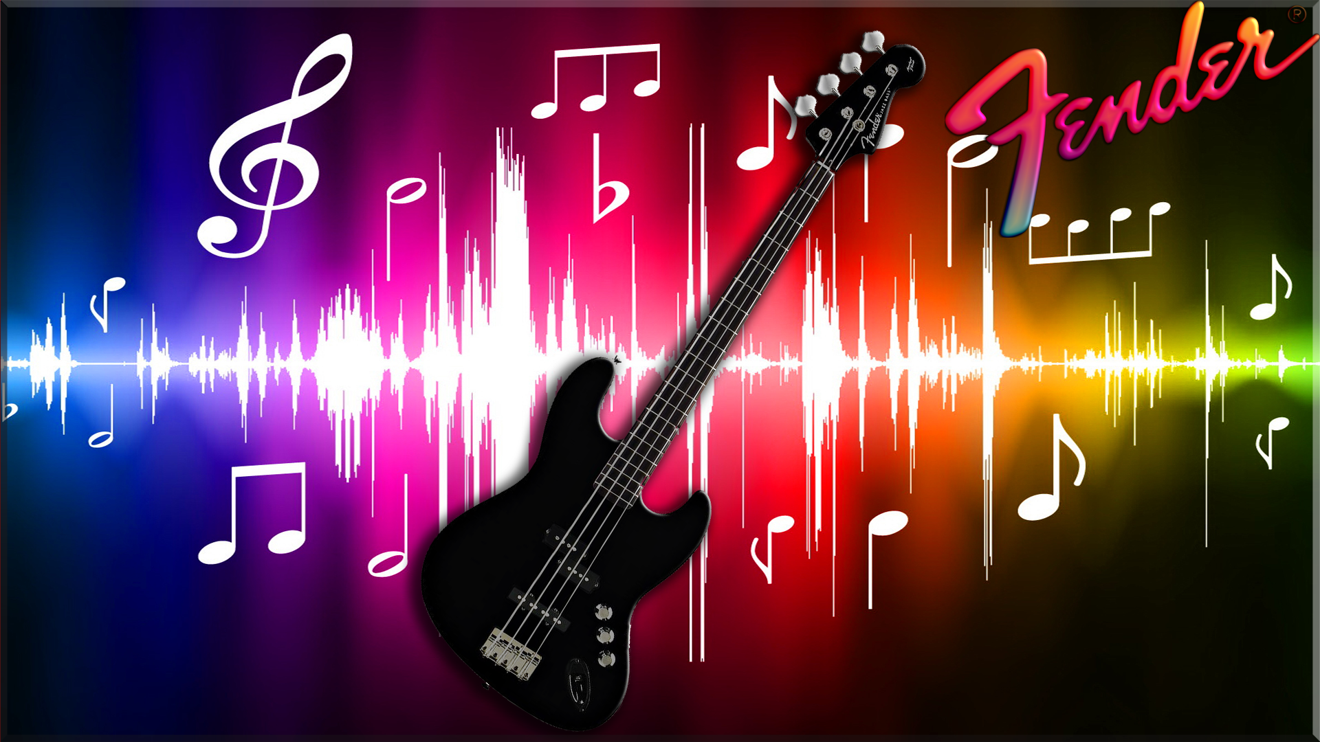 Black Fender Bass Guitar Fondo De Pantalla Hd Fondo De
