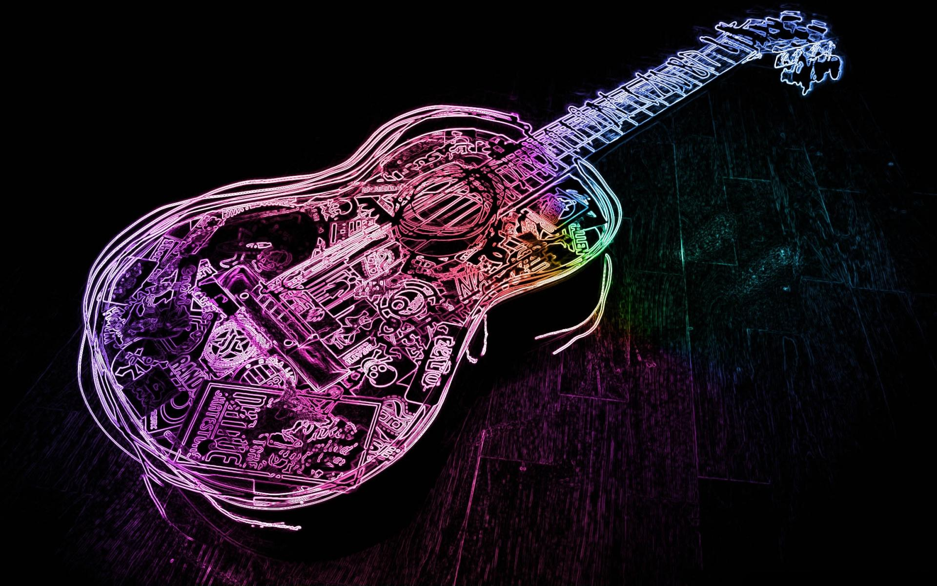 3d Musics Guitar Backgrounds: Guitar Full HD Wallpaper And Background Image