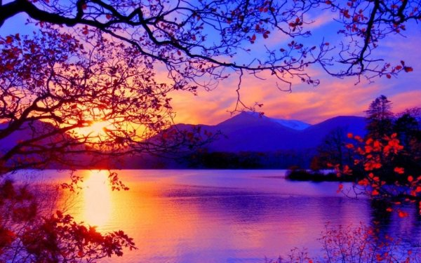 Earth Sunset Lake Photography HD Wallpaper | Background Image