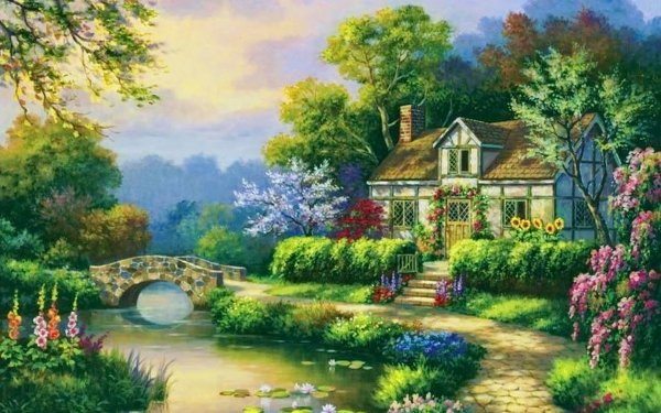 Artistic House HD Wallpaper | Background Image