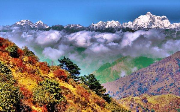 Earth Mountain Mountains Singalila Himalayas Singalila Ridge Bengali India HD Wallpaper   Background Image