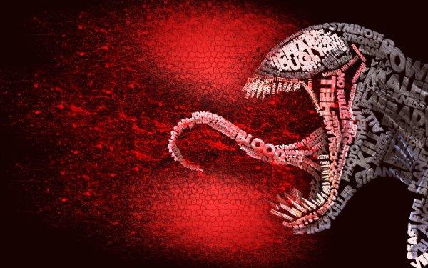 Bande-dessinées Spider-Man Venom Text 3D Sang Fond d'écran HD | Image