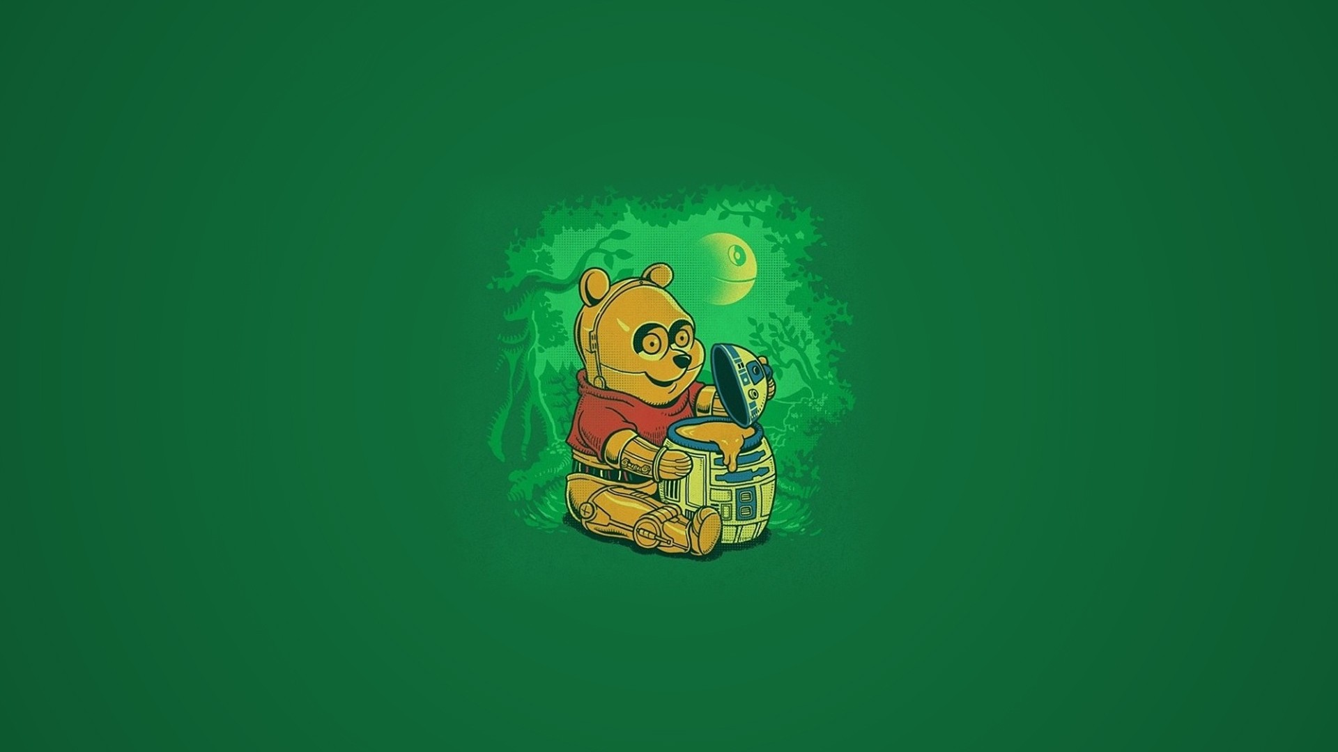 Winnie The Pooh Star Wars Crossover Full Hd Wallpaper And