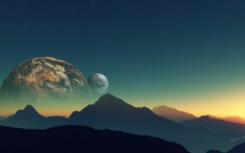 Научная фантастика - Planet Rise Wallpapers and Backgrounds ID : 427582