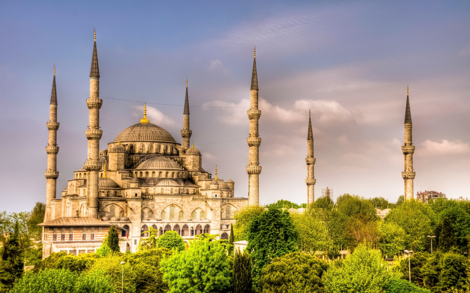 Sultan Ahmed Mosque Istanbul Turkey Full HD Wallpaper And
