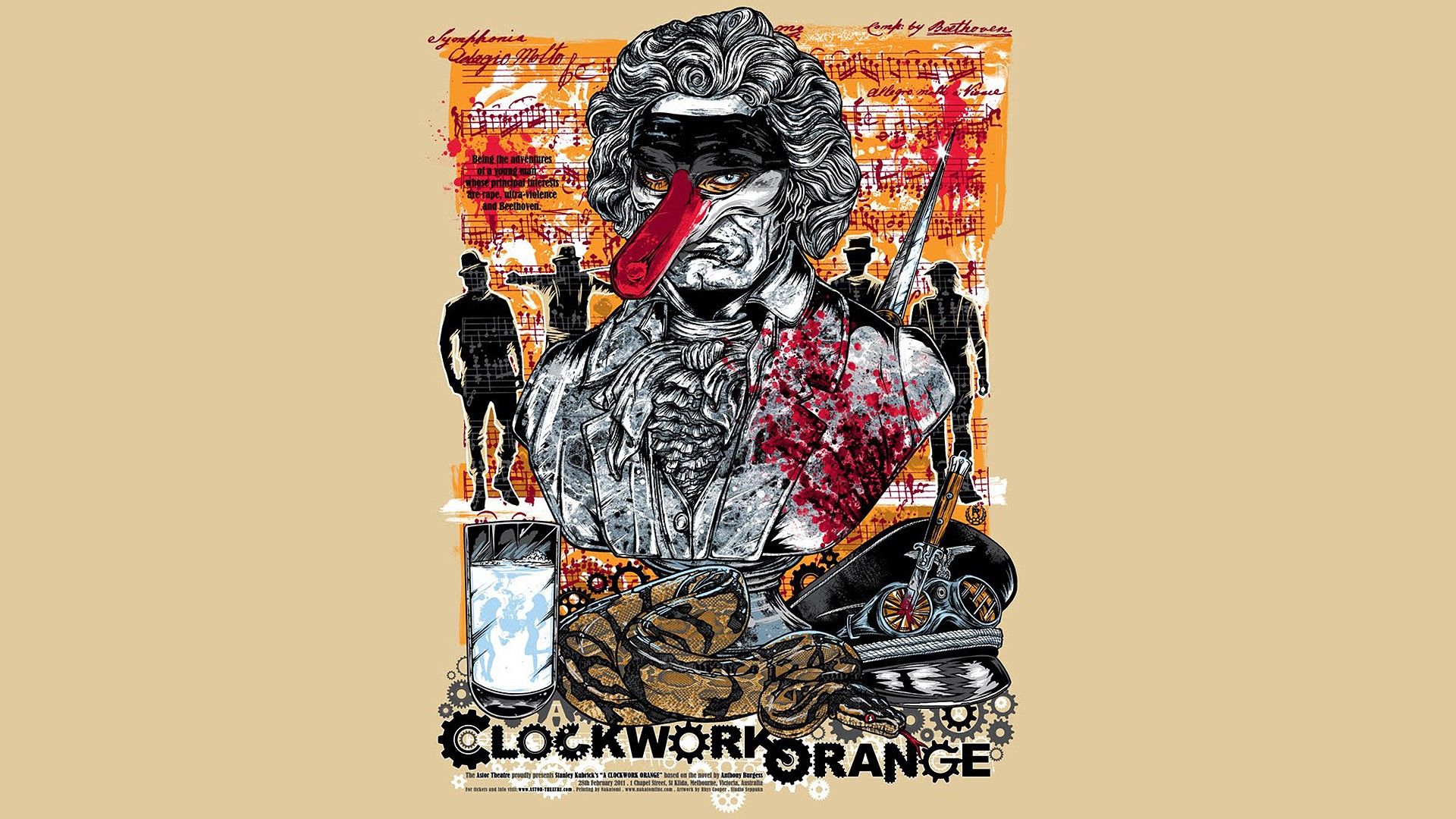 A Clockwork Orange Full HD Wallpaper and Background ... A Clockwork Orange Wallpaper 1920x1080