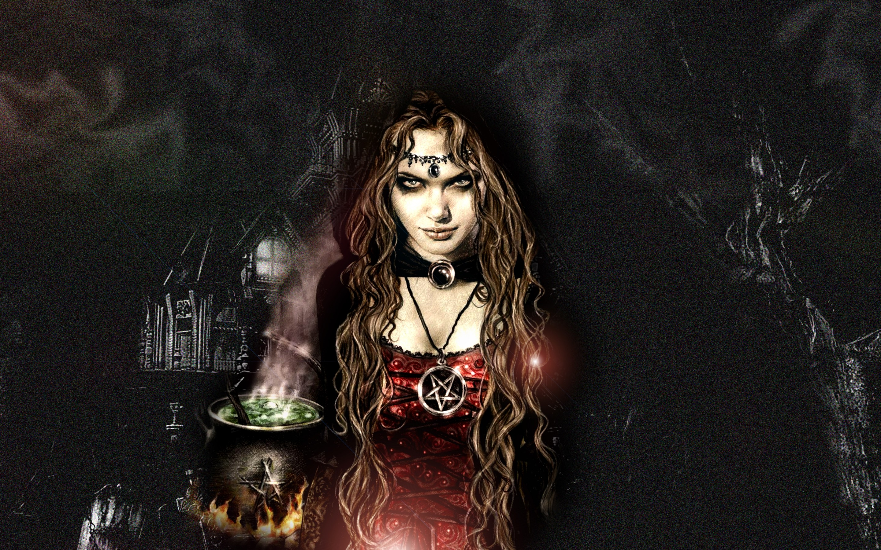 witch computer wallpapers desktop backgrounds 2880x1800