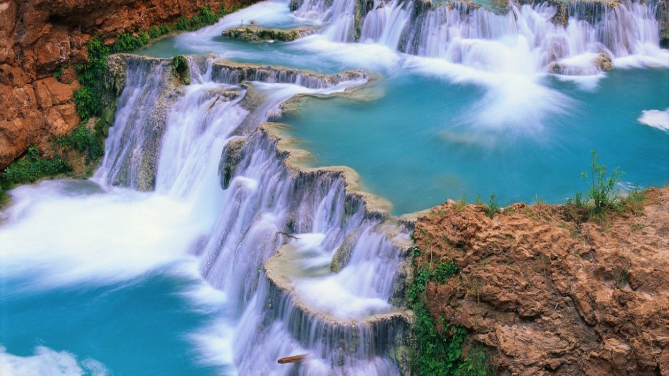 A Beautiful Waterfall Wallpaper And Background Image