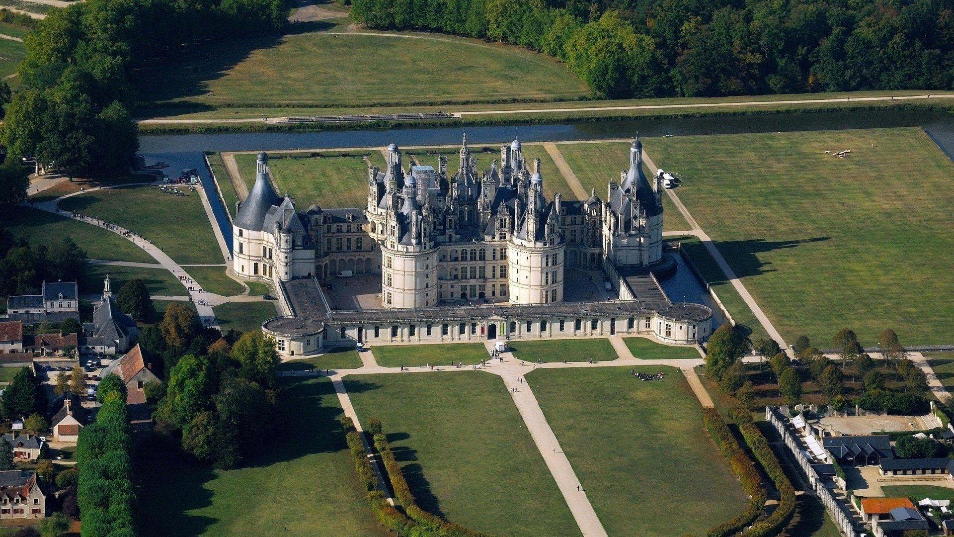 Chateau De Chambord Loire Valley France Fond D Ecran Hd