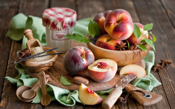 Food Peach HD Wallpaper | Background Image