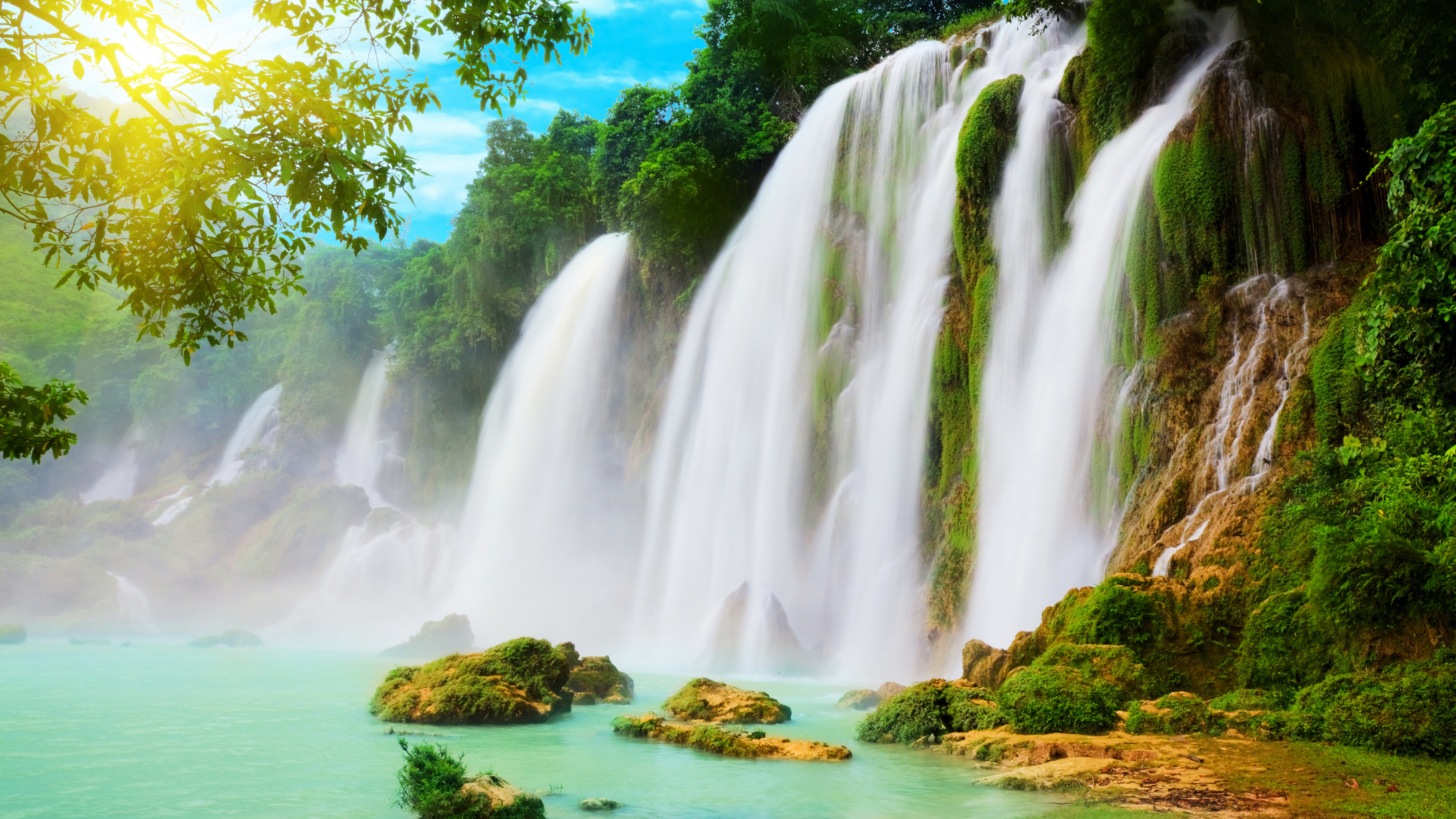 beautiful waterfall wallpaper and background image | 1366x768 | id