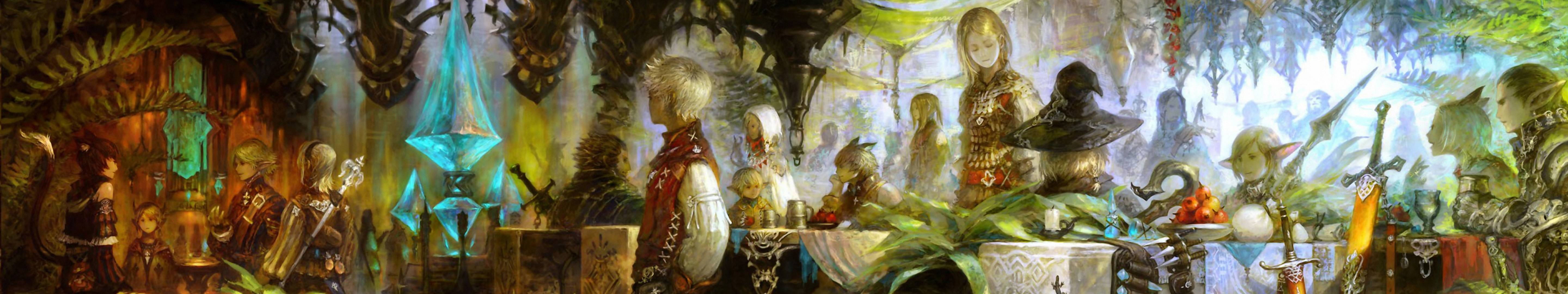 Final fantasy xiv full hd wallpaper and background image 5760x1080 video game final fantasy xiv wallpaper voltagebd Image collections