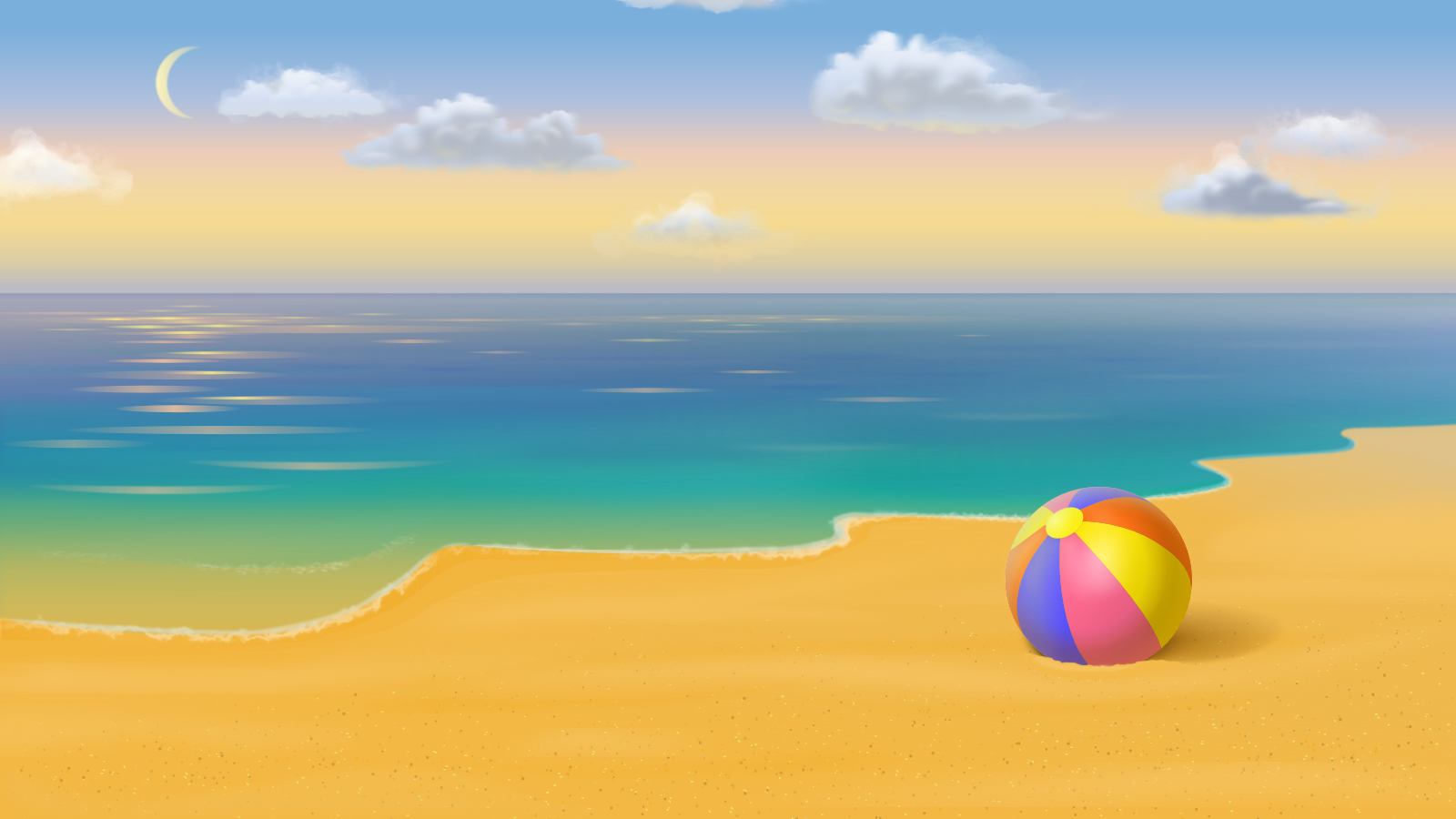 beach wallpaper and background image 1600x900 id445057