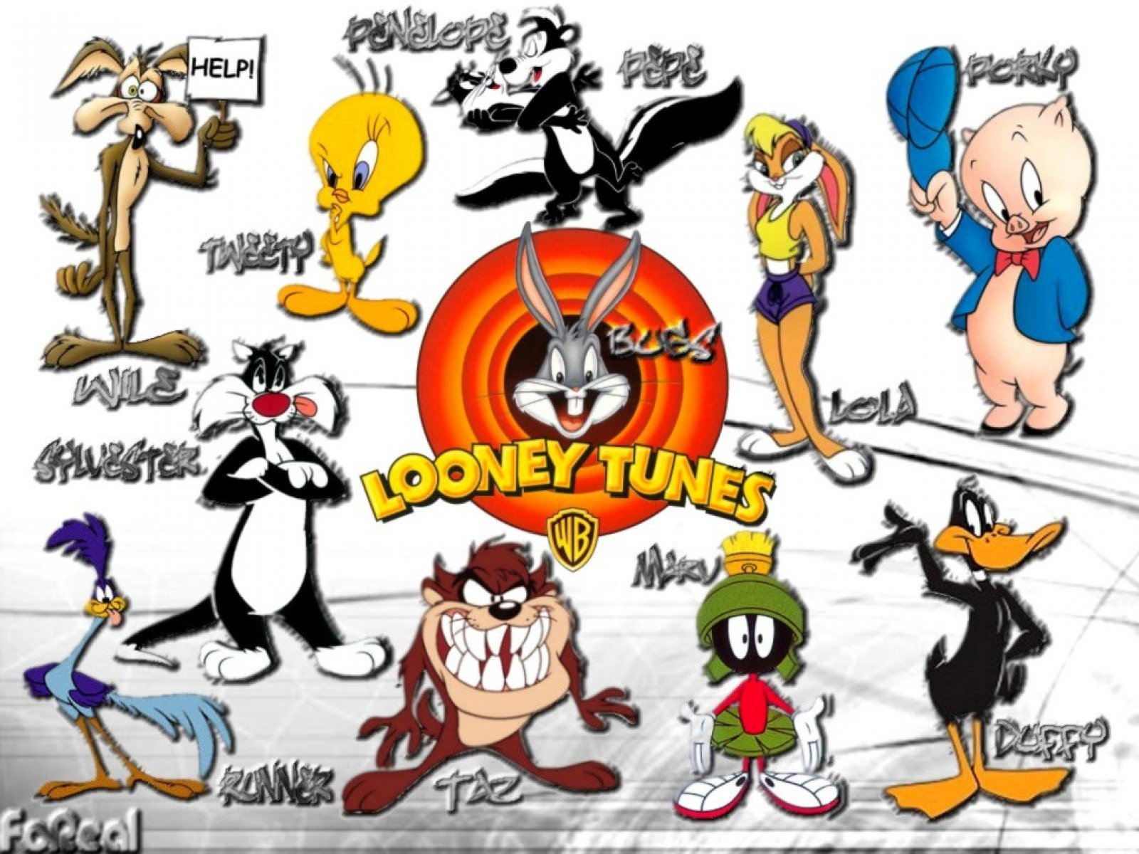 Looney tune characters pictures and names