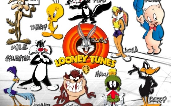 TV Show Looney Tunes Collage Tweety Bugs Bunny Wile E. Coyote Lola Bunny Daffy Duck Porky Pig Tasmanian Devil Pepé Le Pew HD Wallpaper | Background Image