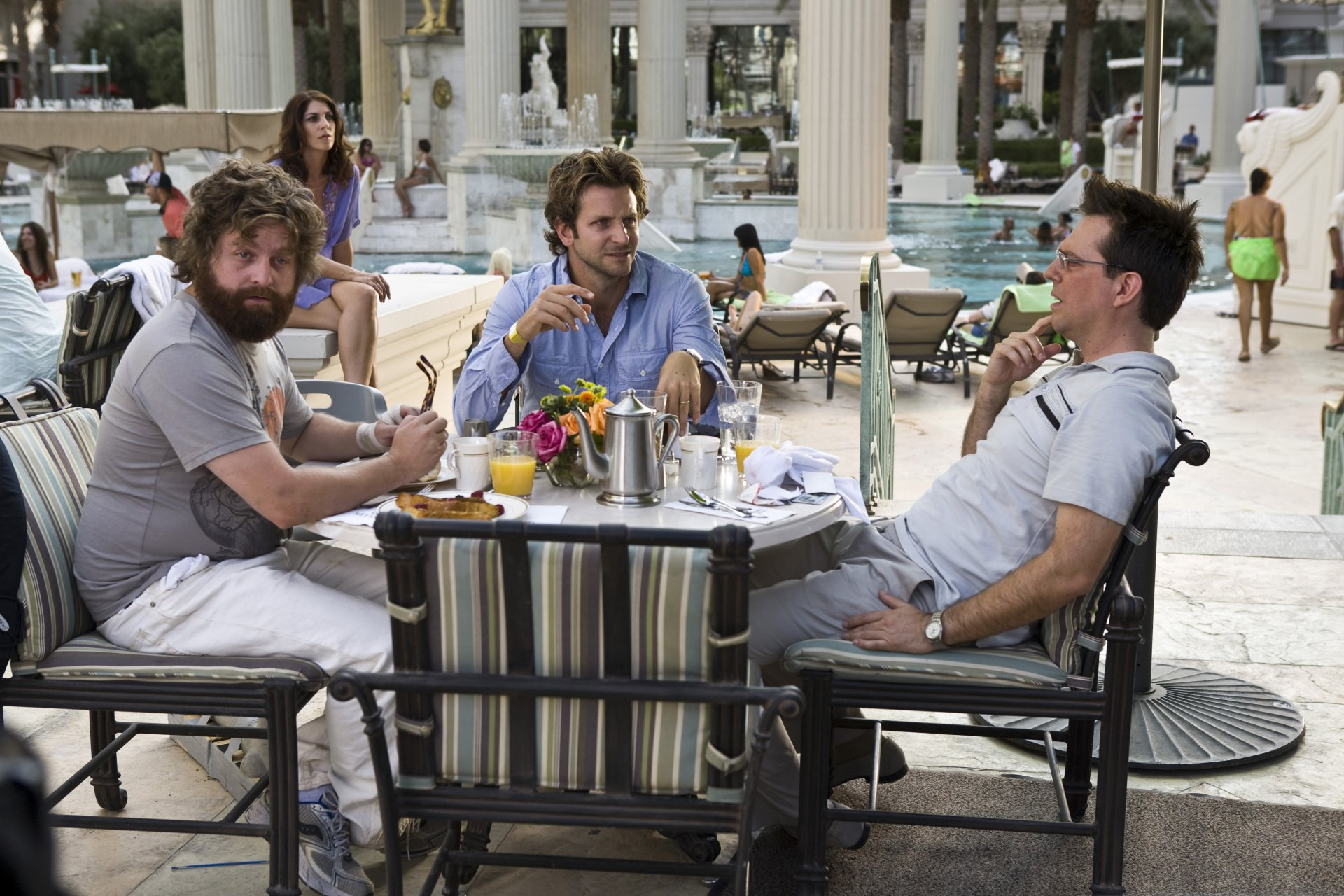 Movie - The Hangover  Ed Helms Zach Galifianakis Bradley Cooper Wallpaper
