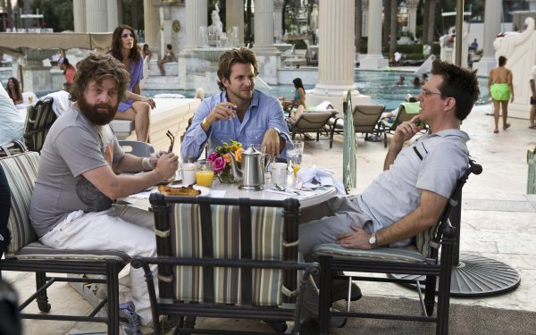 Movie The Hangover Zach Galifianakis Bradley Cooper Ed Helms HD Wallpaper | Background Image