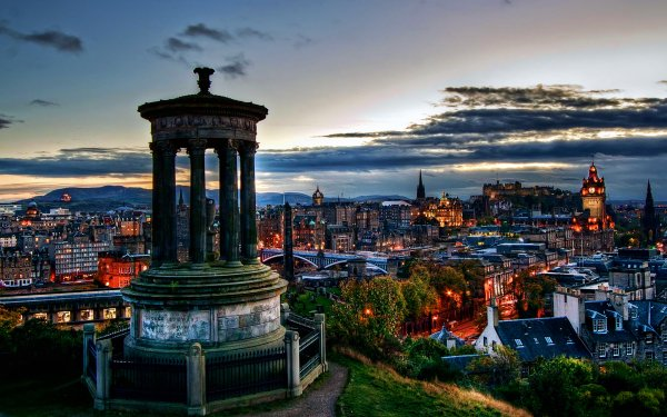 Man Made Edinburgh Cities United Kingdom Scotland HD Wallpaper | Background Image