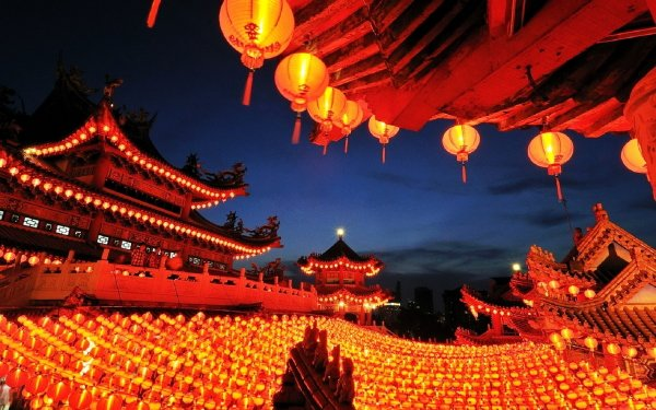 Religious Thean Hou Temple Temples Asian Oriental Kuala Lumpur Malaysia HD Wallpaper   Background Image