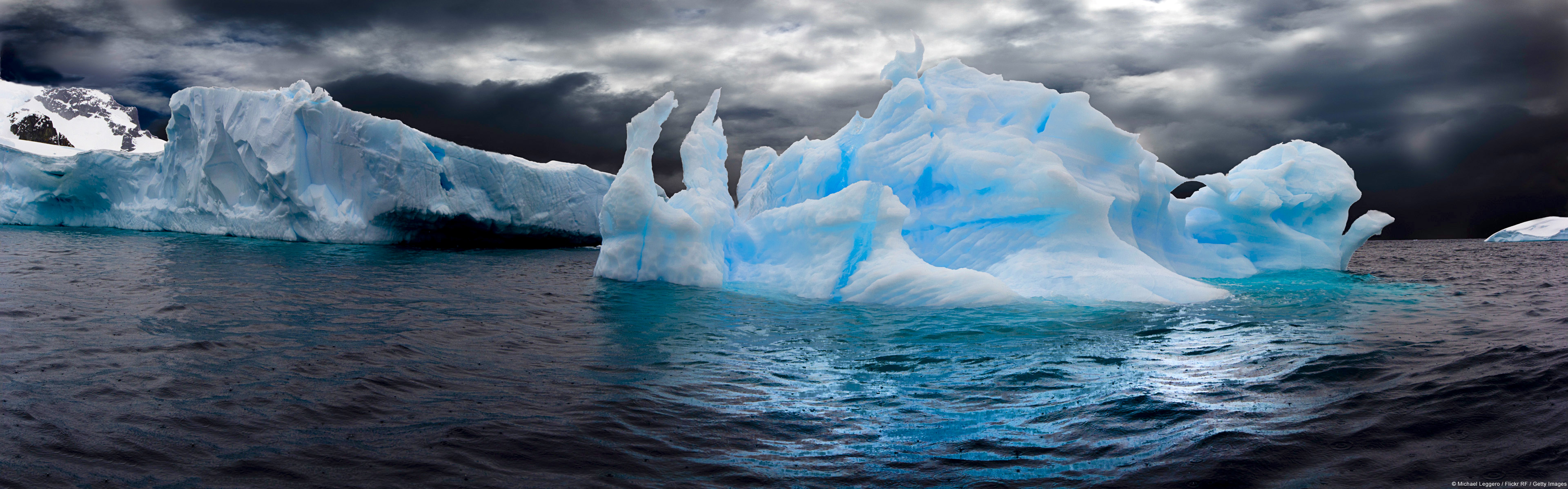 Ice Berg Full Hd Wallpaper And Background 3840x1200 Id